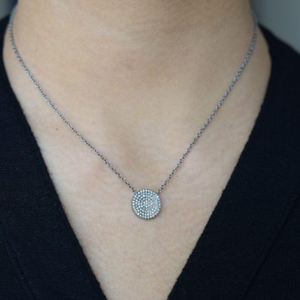 2-Sided Diamond Star Disc Necklace Back