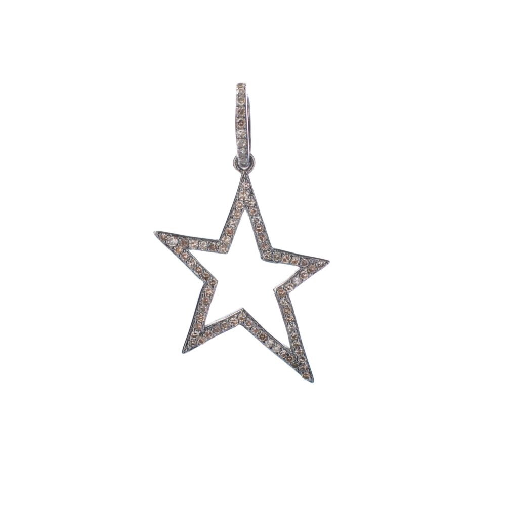 Cutout Asymmetrical Diamond Star Charm