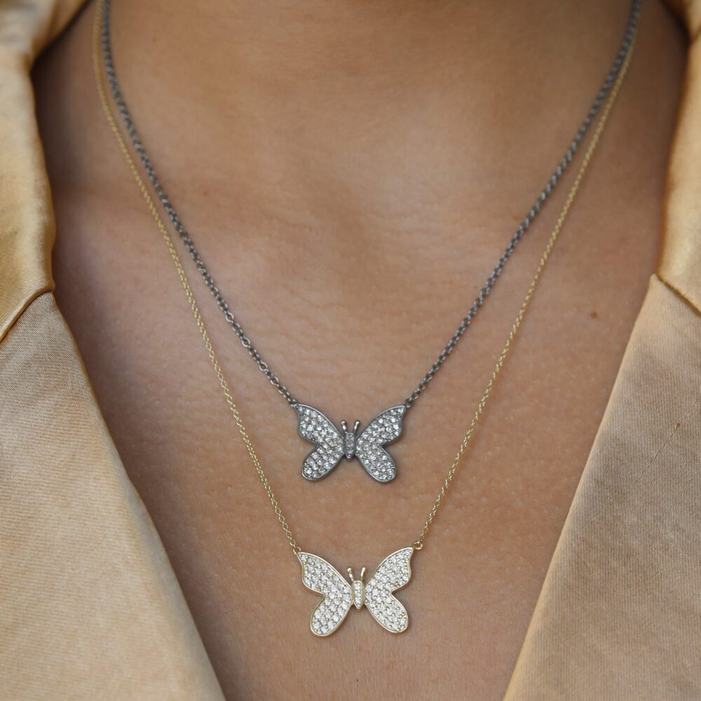 Diamond Butterfly Necklace