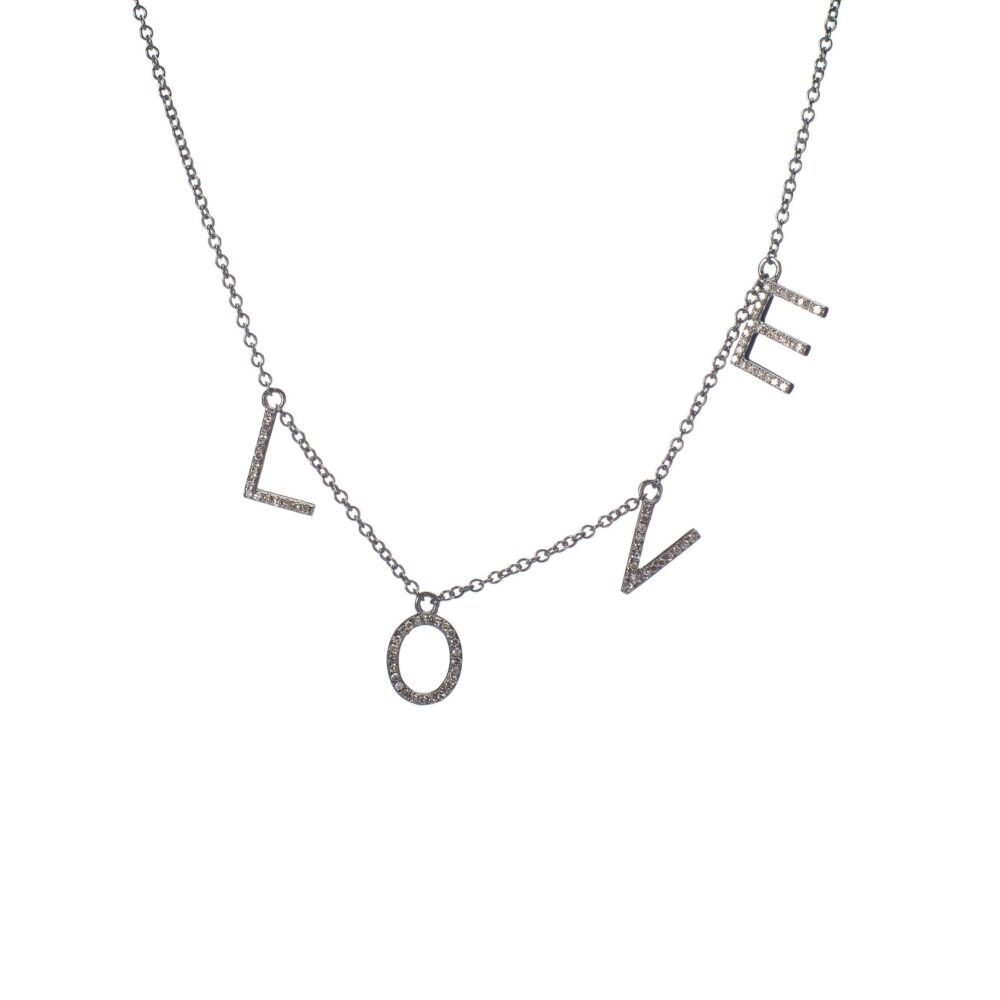 Diamond Dangling LOVE Necklace