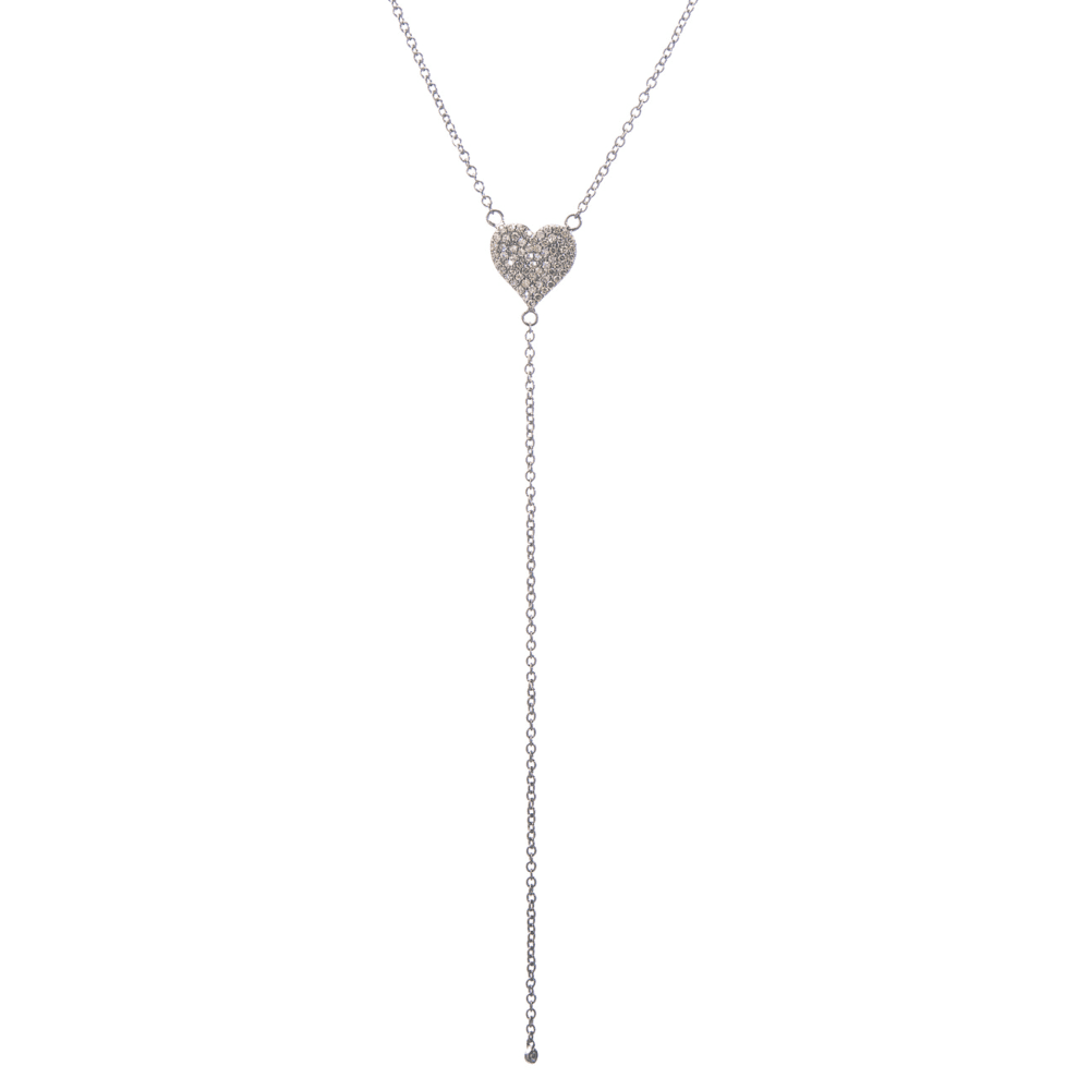 Diamond Heart Y Lariat