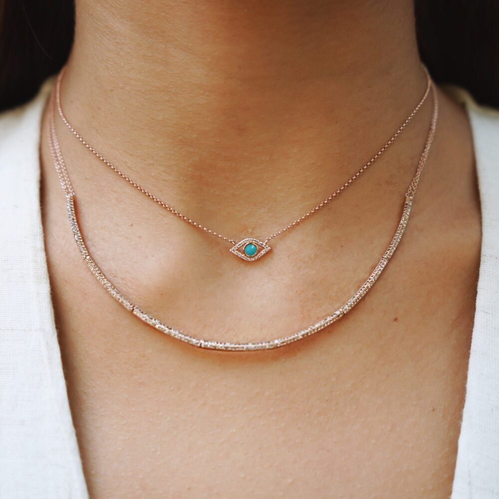 Diamond Hinged Bar Necklace