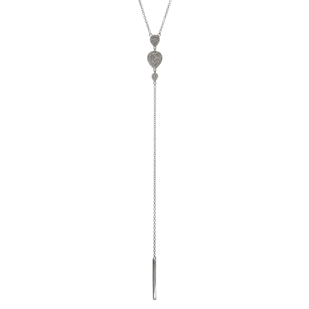 Diamond Triple Teardrop Y Lariat
