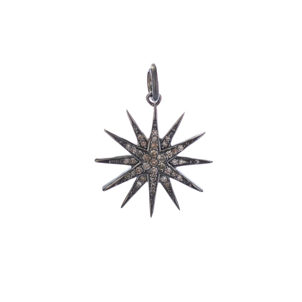 Mini Diamond Sunburst Charm