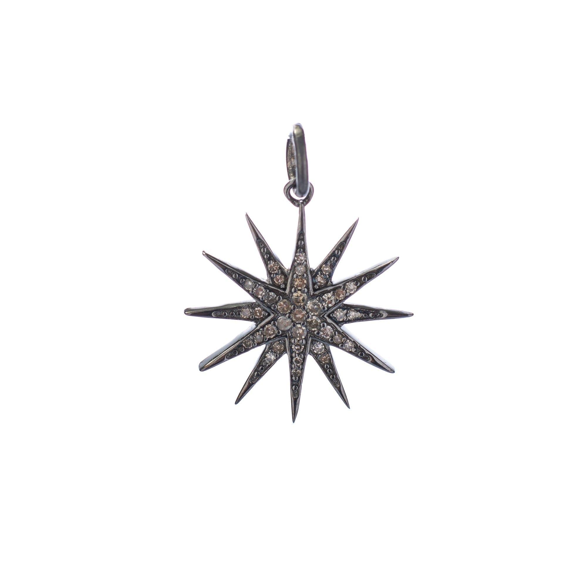 Mini Diamond Sunburst Charm