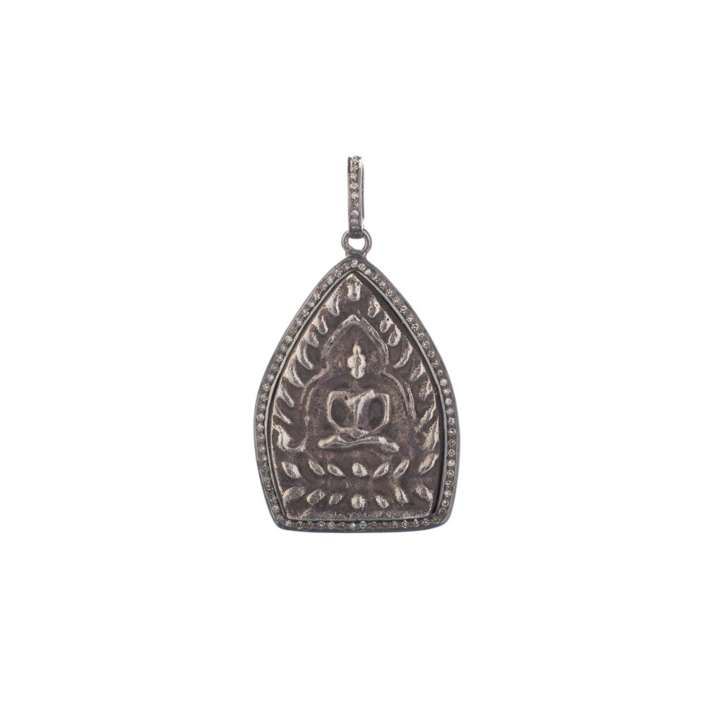 Sitting Buddha Diamond Pendant