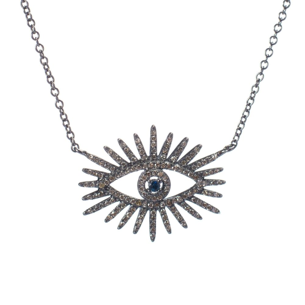 Diamond Eyelash Necklace