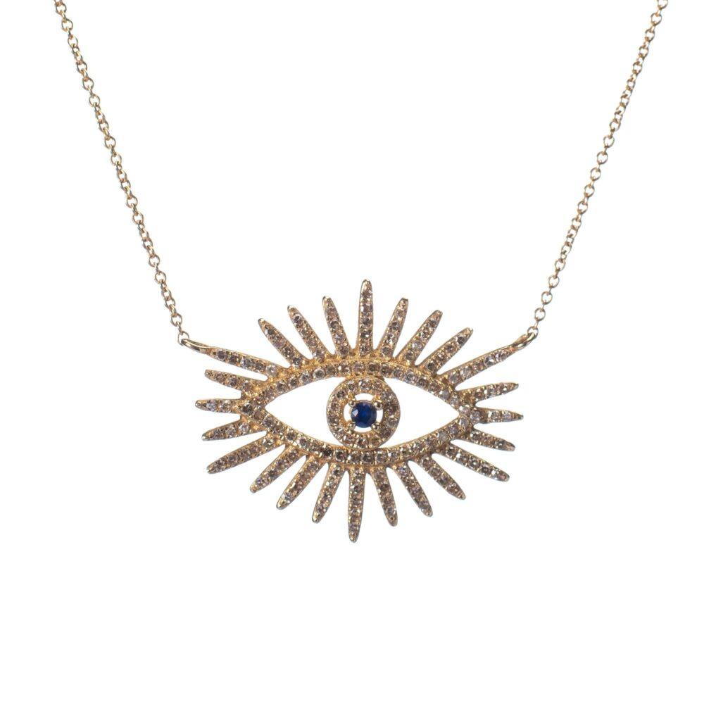 Diamond Eyelash Necklace