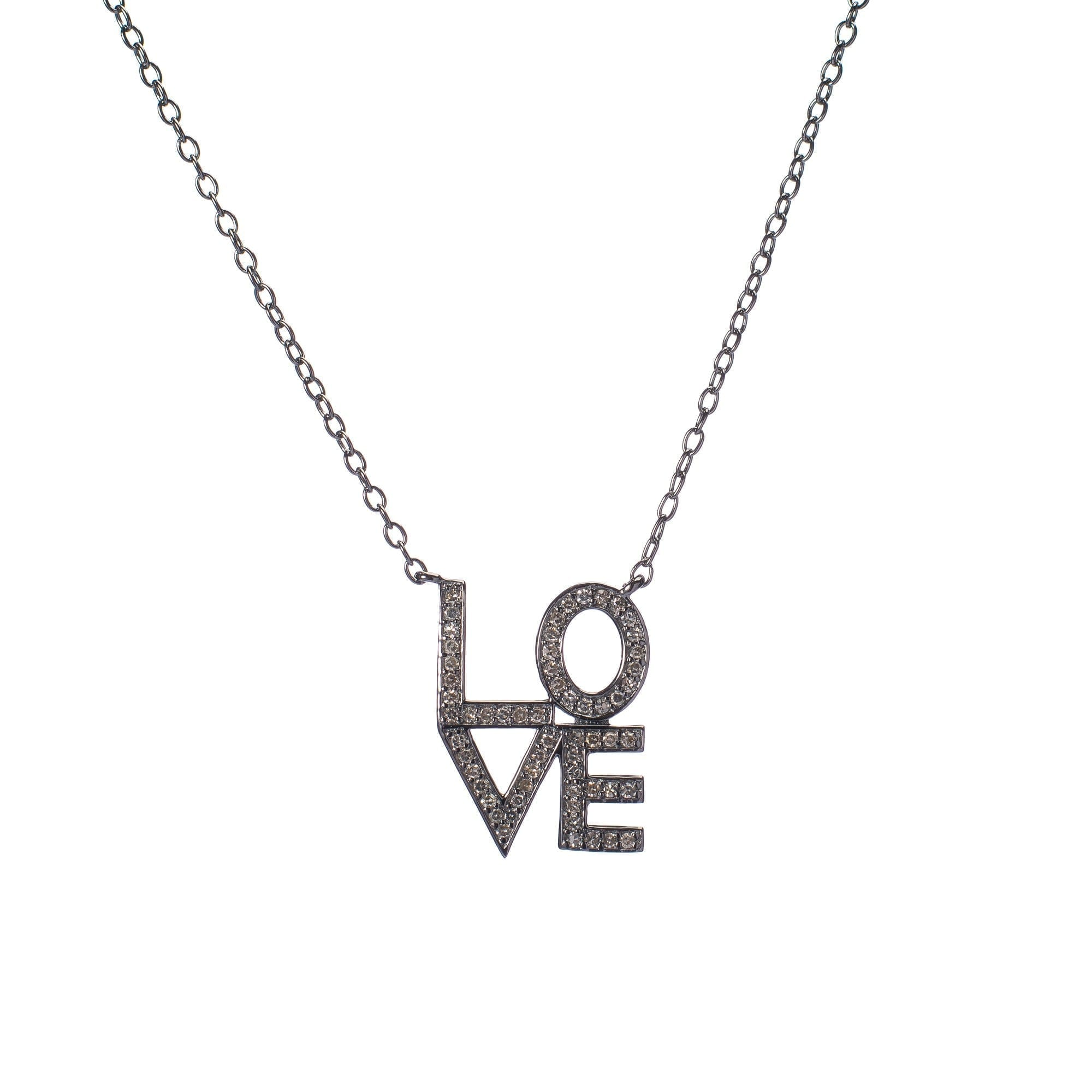 Diamond LOVE Stacked Necklace