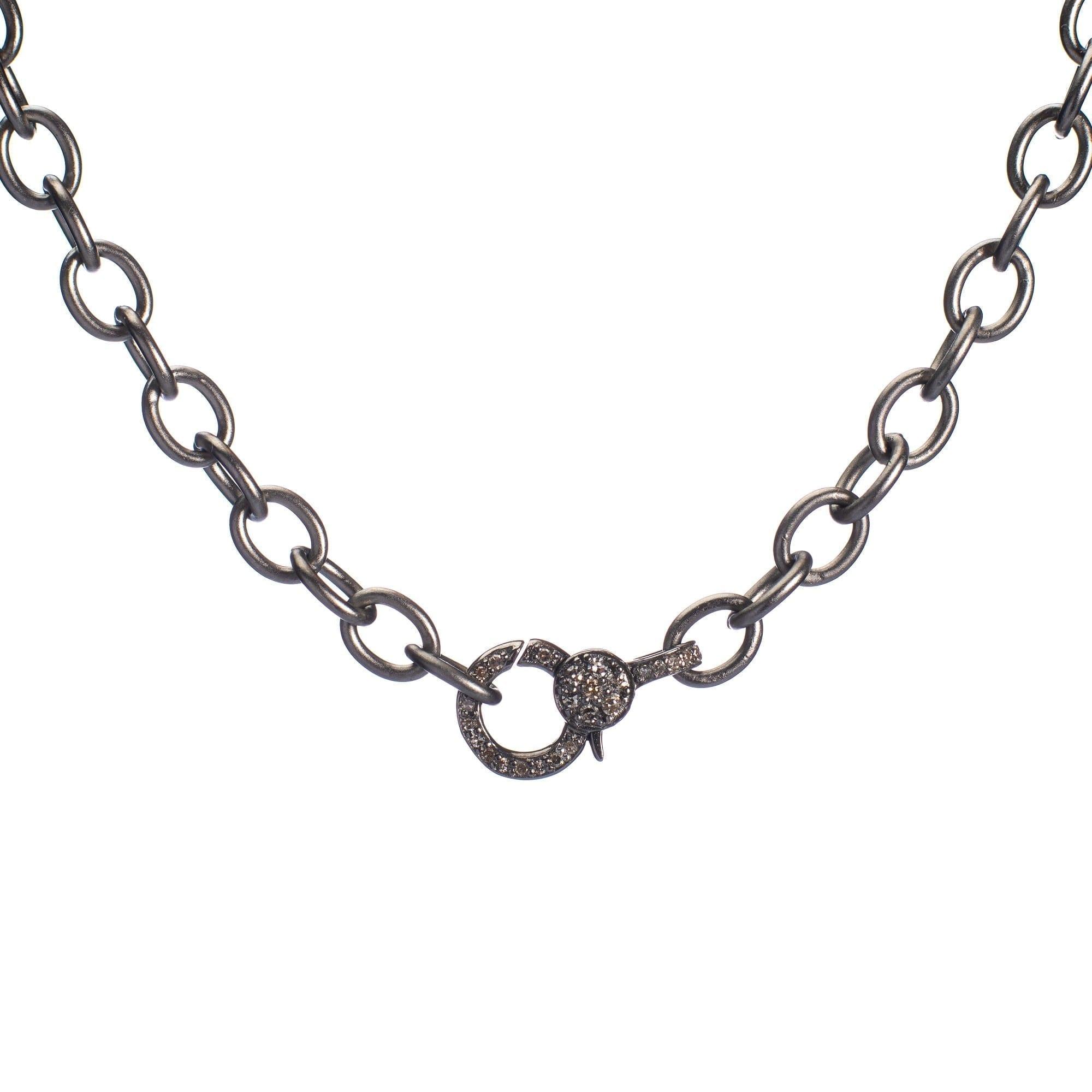 Mini Diamond 2-Sided Clasp Chain Necklace