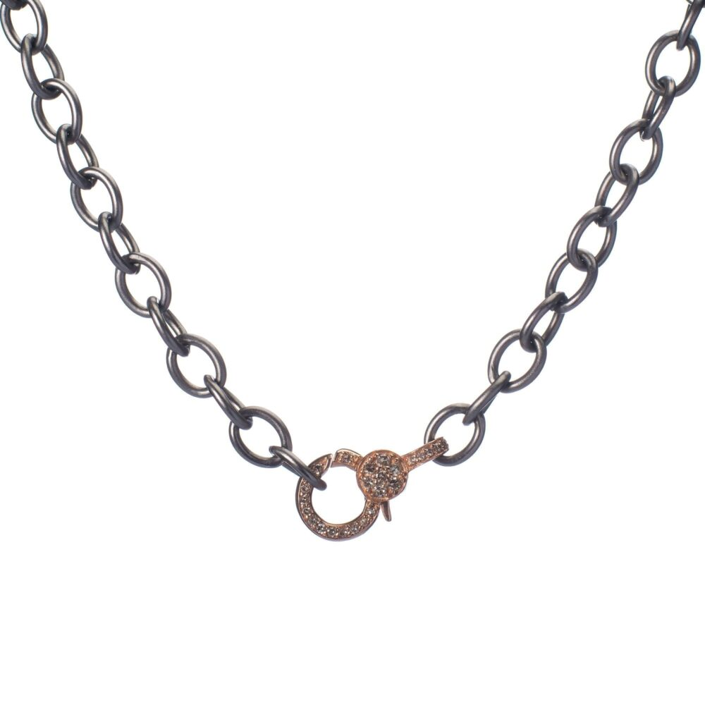 Mini Diamond 2-Sided Clasp Chain Necklace