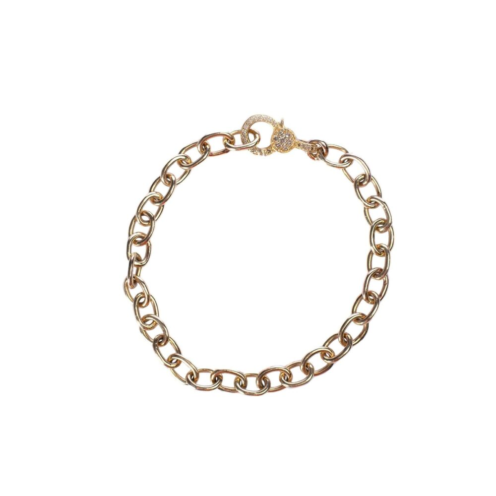Chain Bracelet with Diamond Clasp