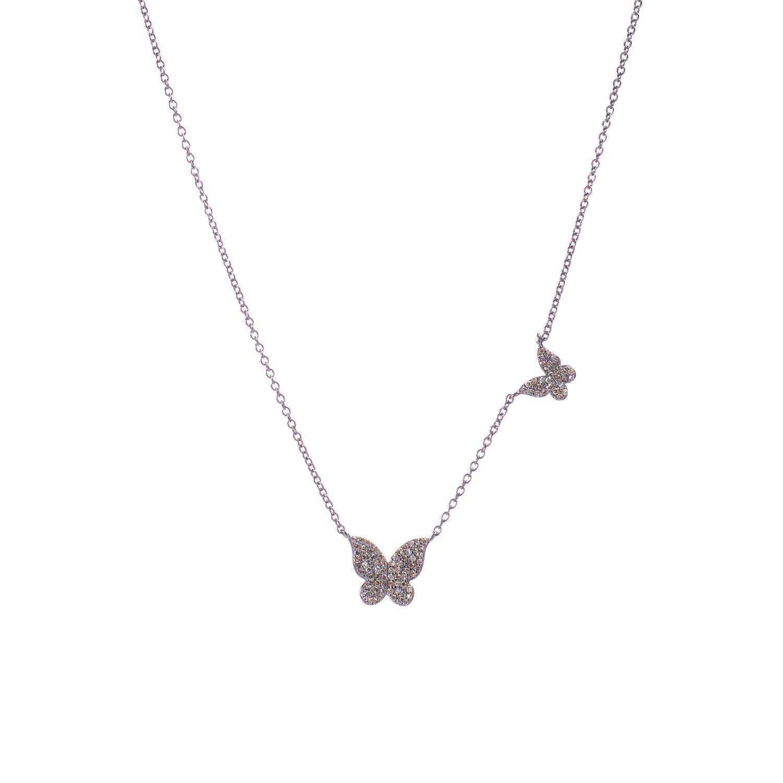 Diamond Butterflies Necklace