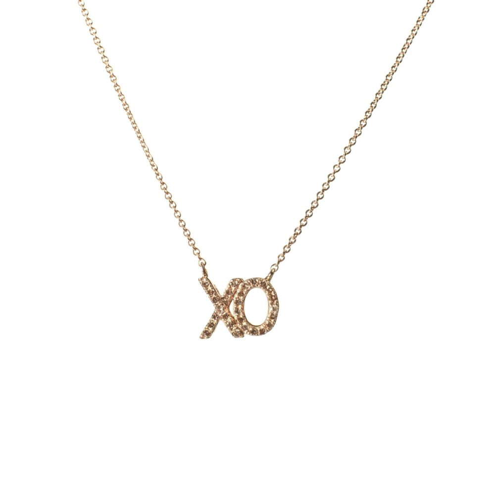 "Diamond ""XO"" Necklace"