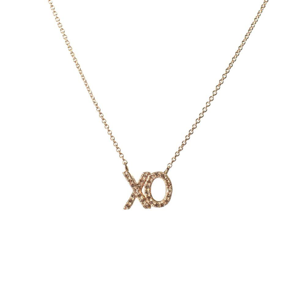"Diamond ""XO"" Necklace"