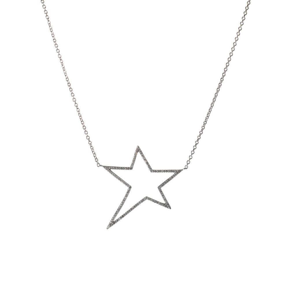 Diamond Star Statement Necklace