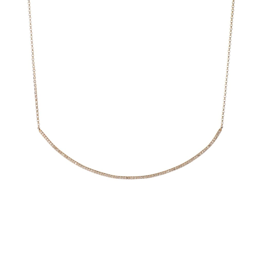 Diamond Curved Bar Necklace