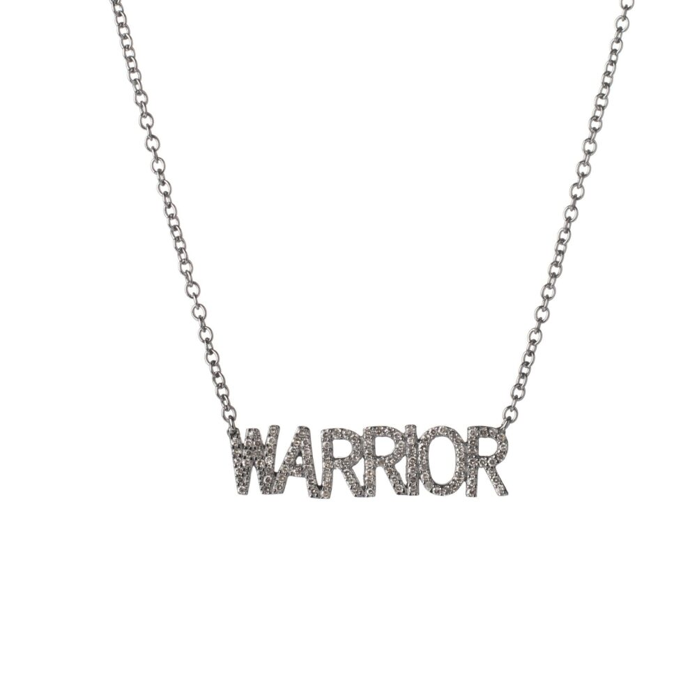 Diamond WARRIOR Mantra Necklace