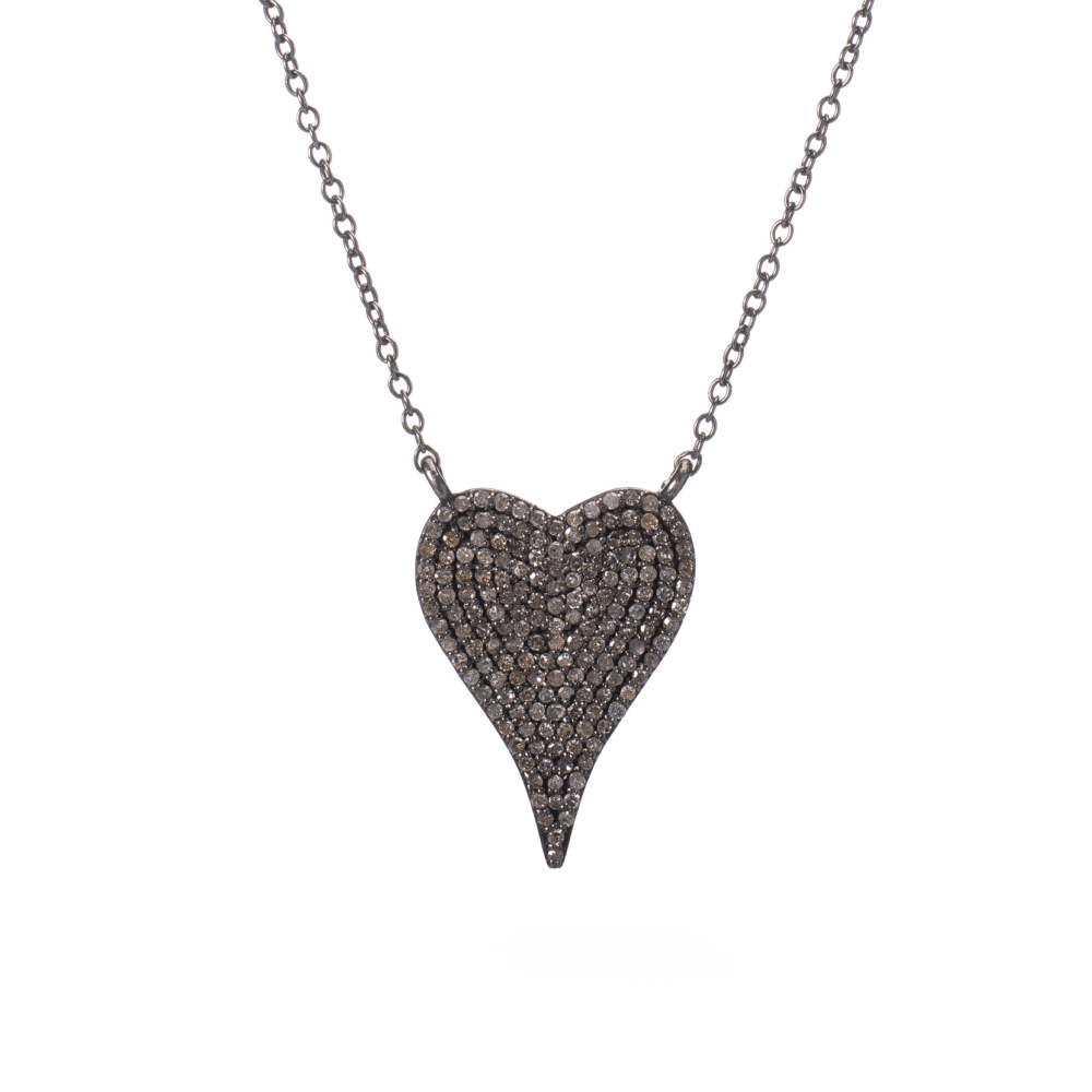 Modern Diamond Heart Necklace