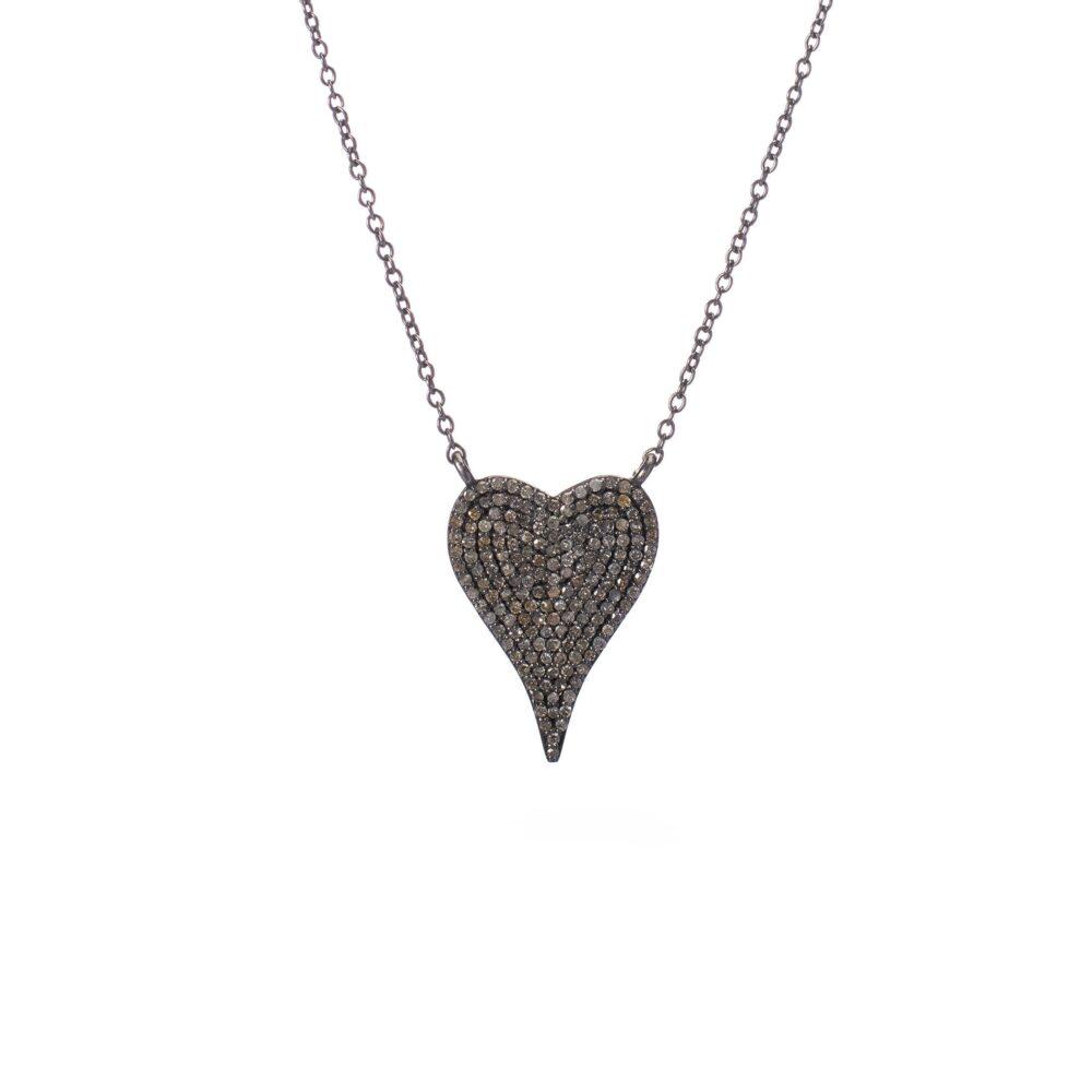 Modern Diamond Heart Necklace
