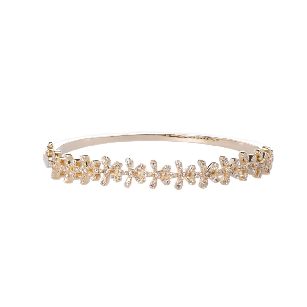 Diamond Flower Bangle