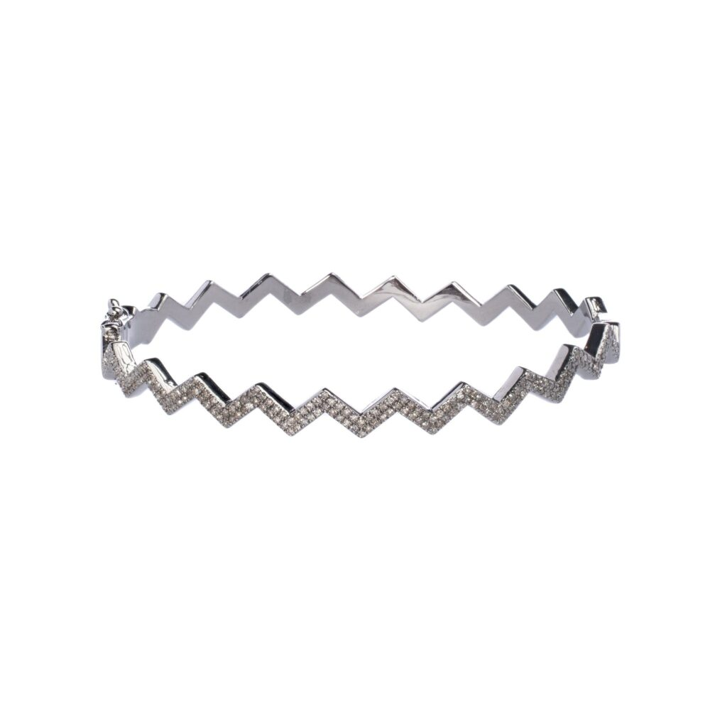 Diamond Zig-Zag Bangle