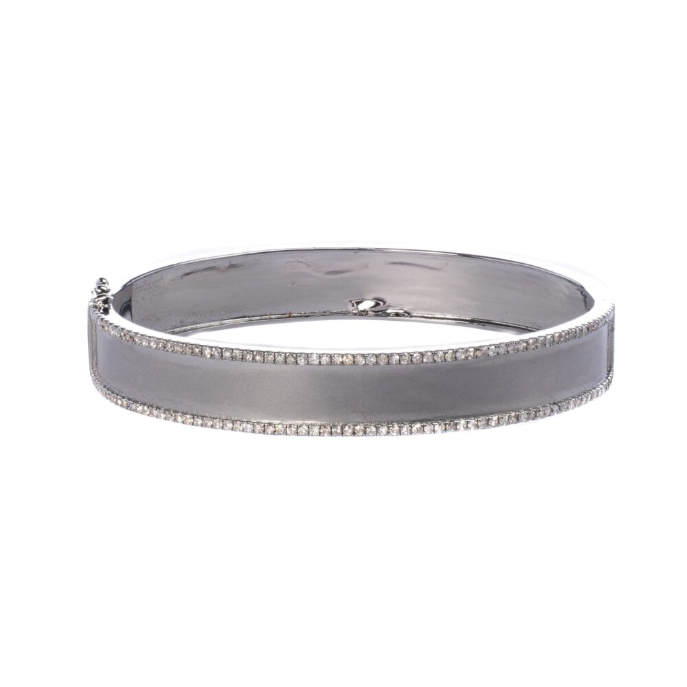 Diamond Frame Wide Bangle
