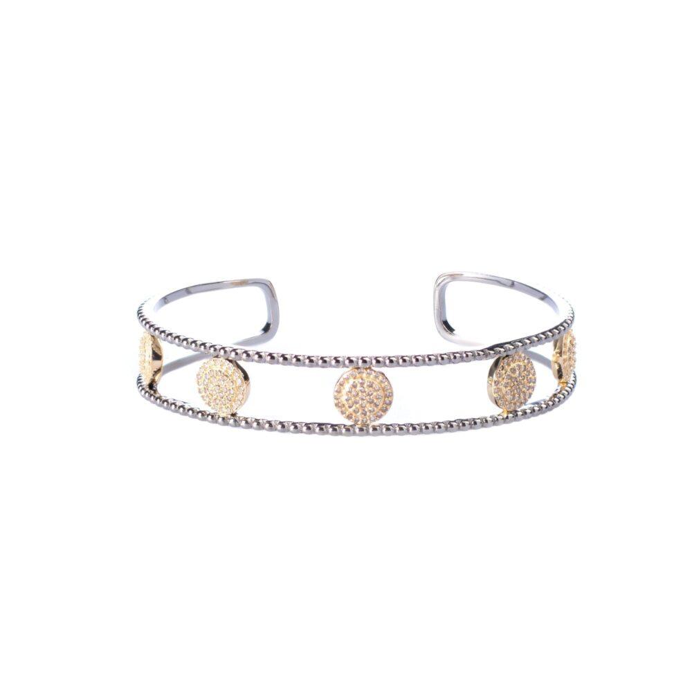 Diamond Circle Cuff