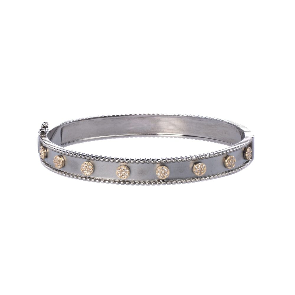 Diamond Circle Frame Bangle
