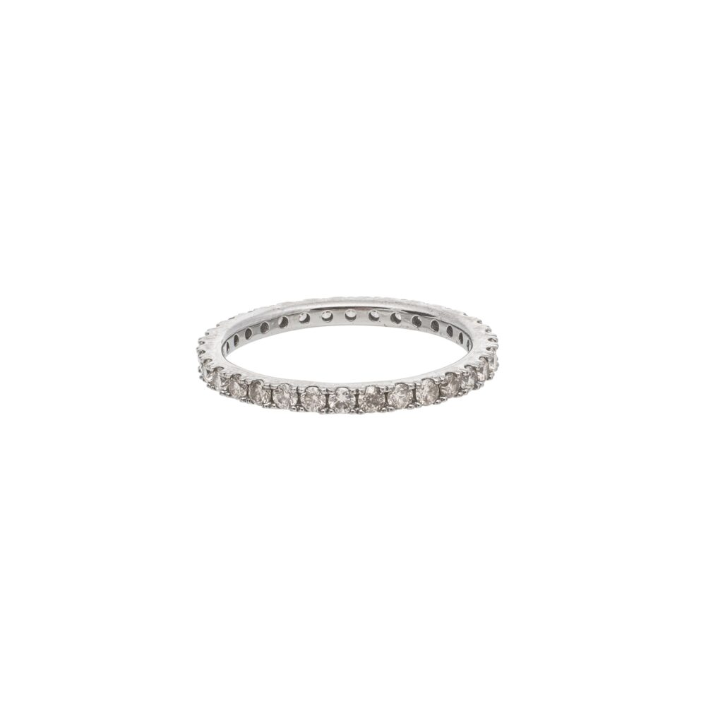Diamond Eternity Band Sterling Silver