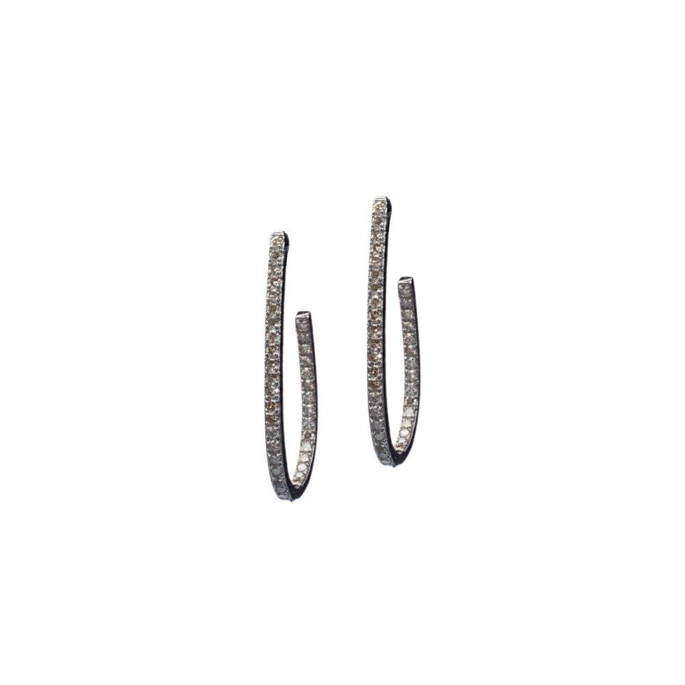 Diamond Small Oval Hoops