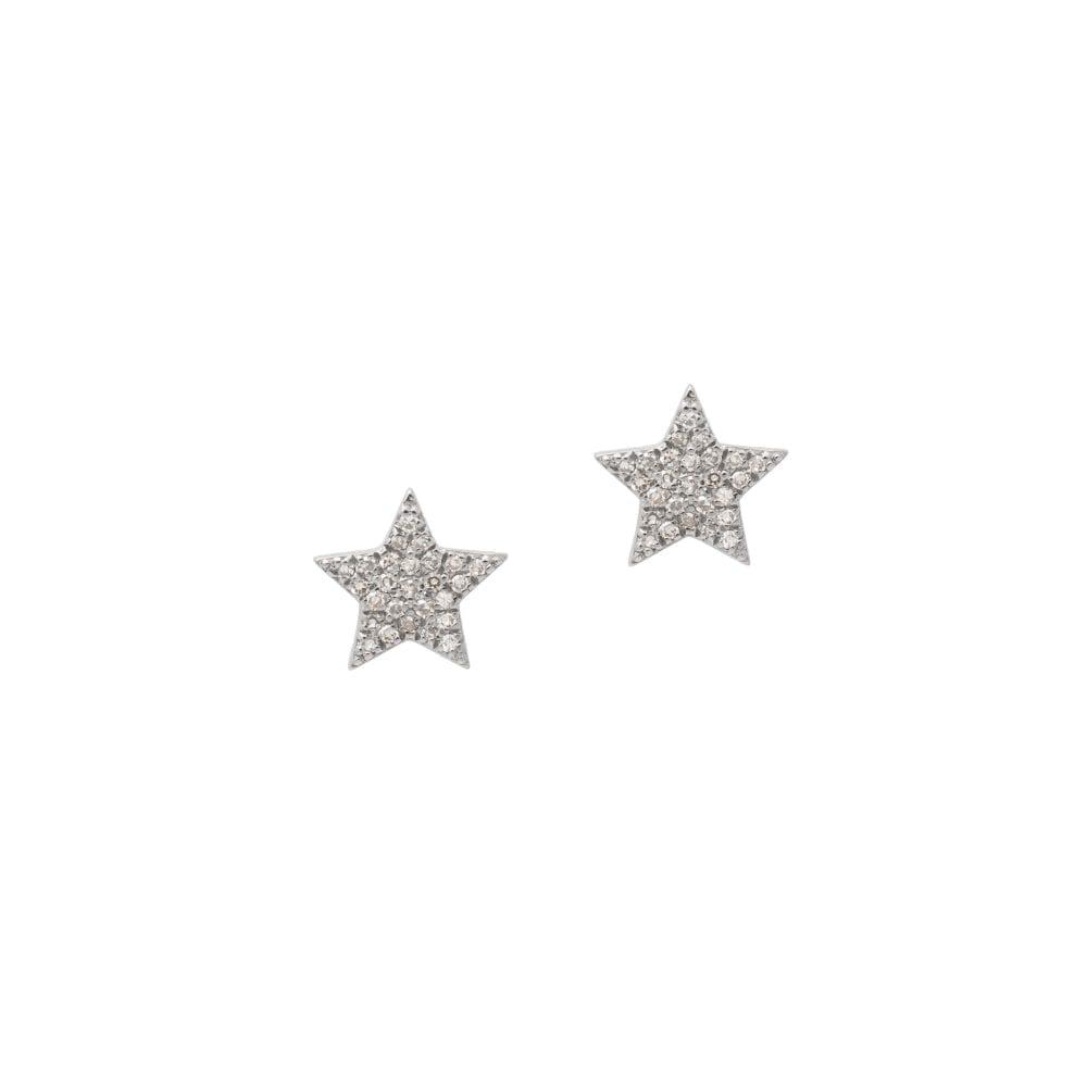 Diamond Star Studs Sterling Silver