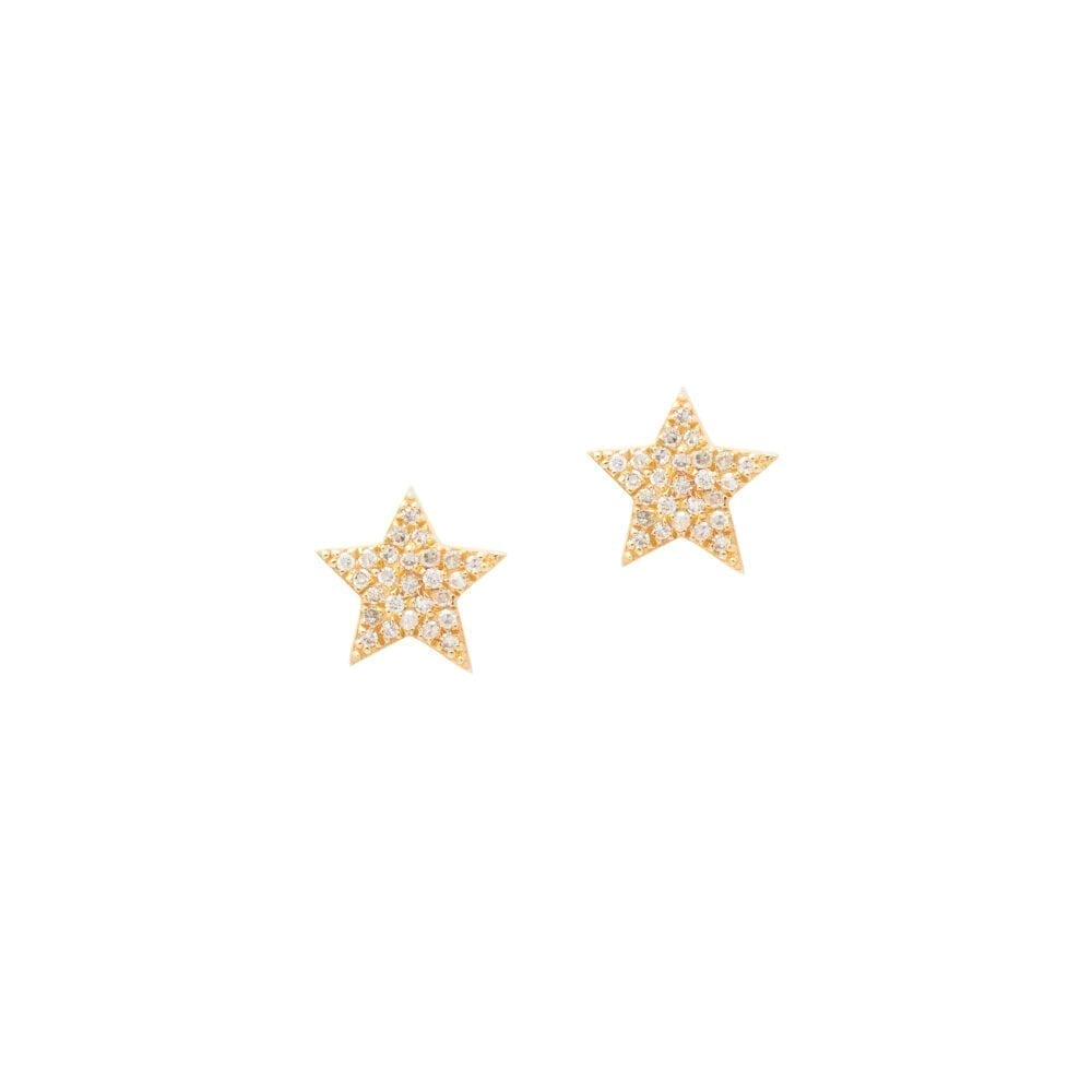 Diamond Star Studs Yellow Gold