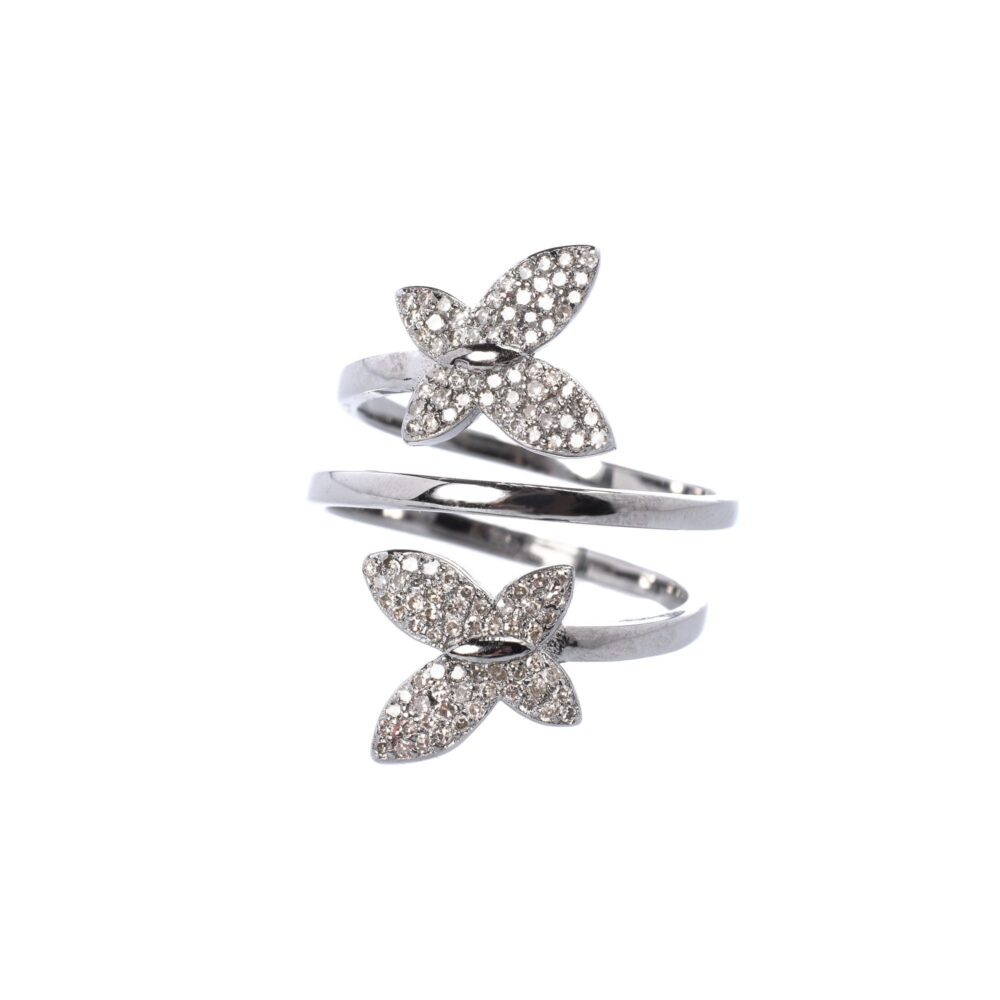 Diamond Butterfly Wrap Ring