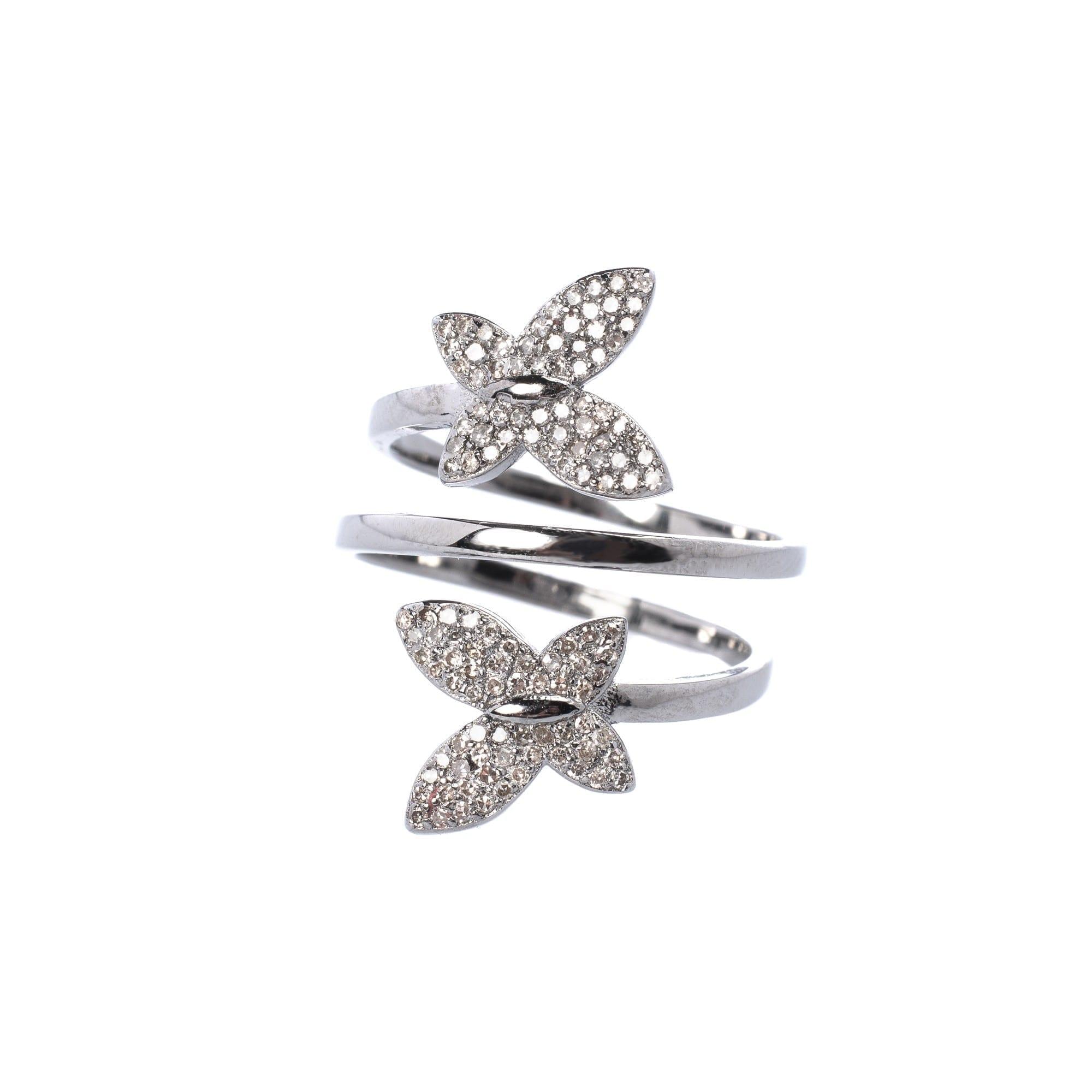 Diamond Butterfly Wrap Ring