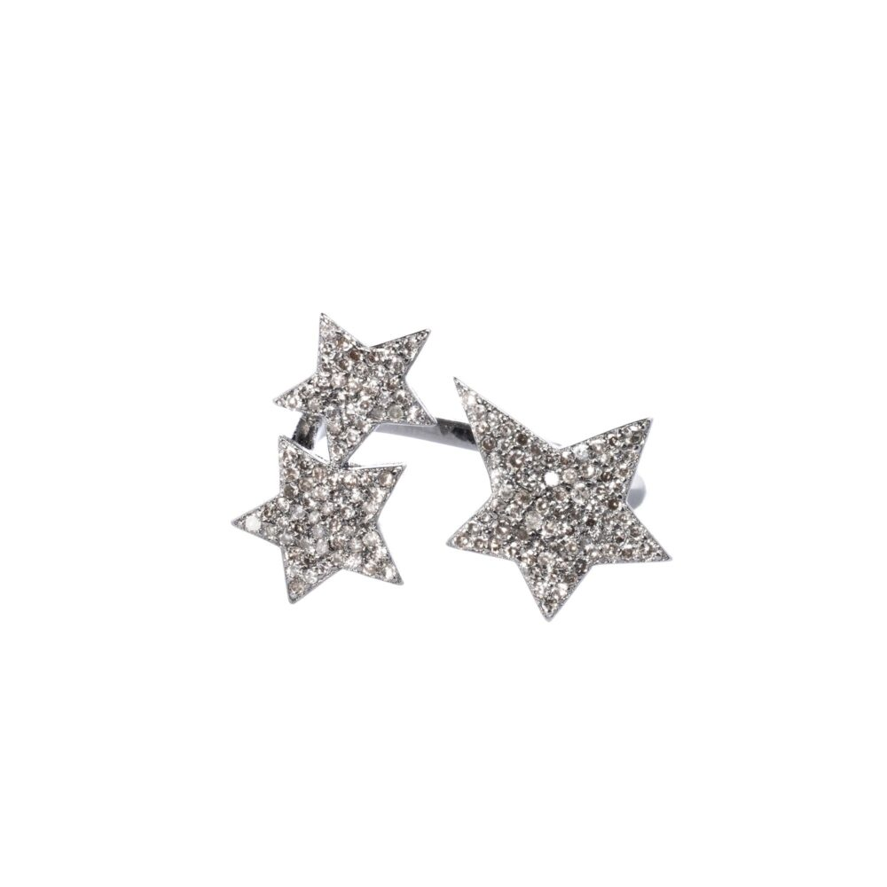 Diamond Triple Star Ring