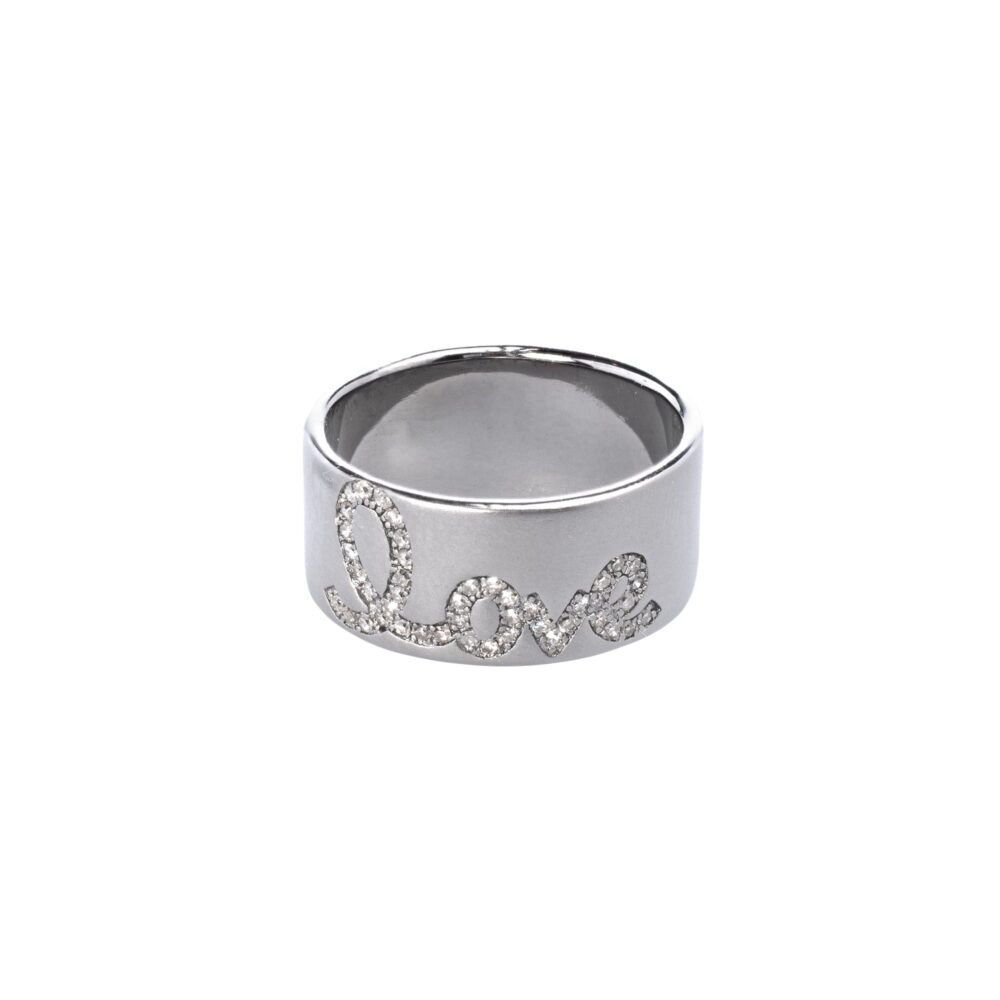 Diamond Script Love Band