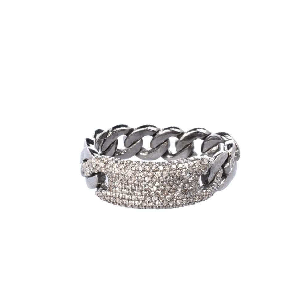 Diamond ID with Chain Link Ring