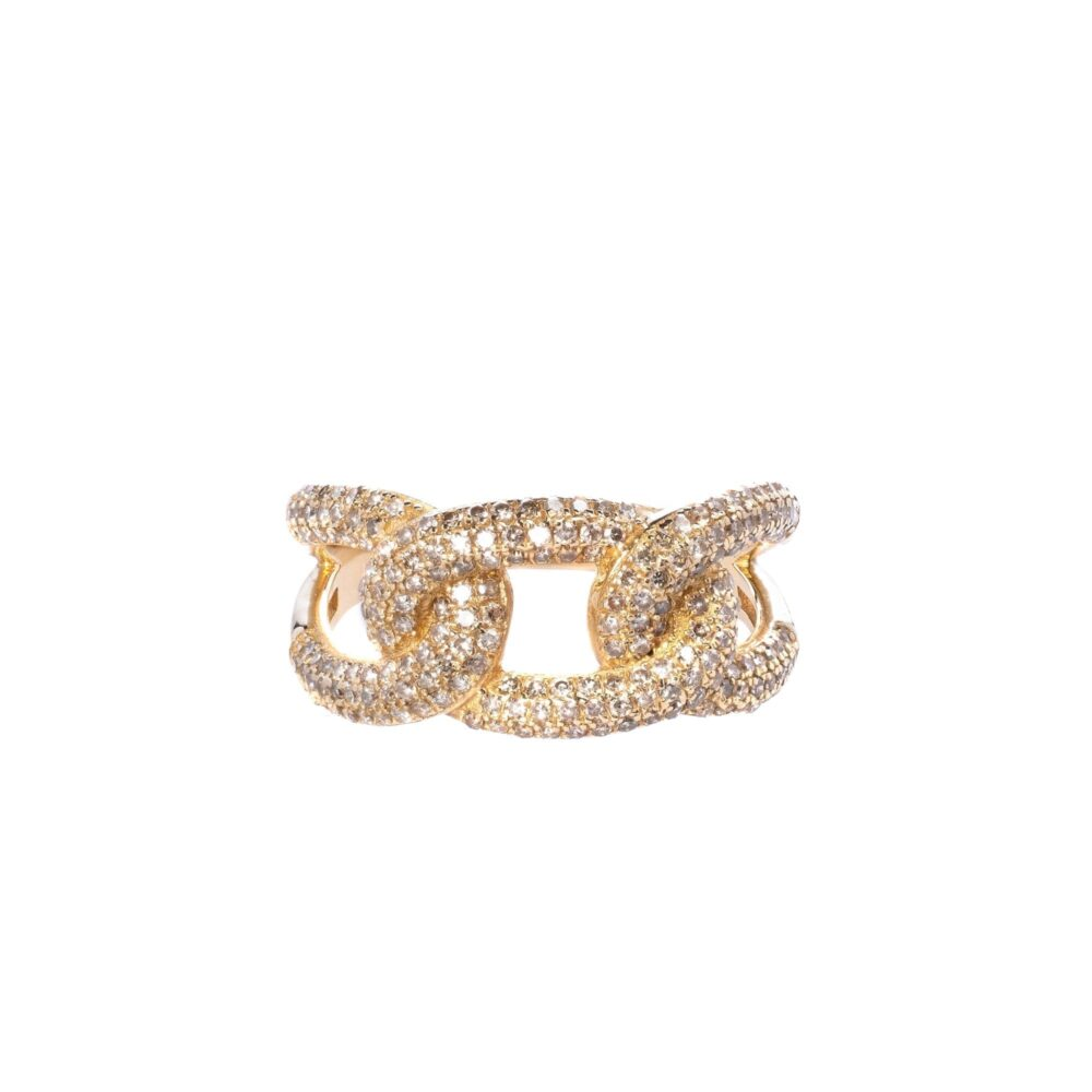 Diamond Triple Link Ring
