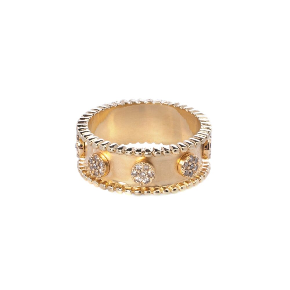 Diamond Circle Beaded Eternity Band