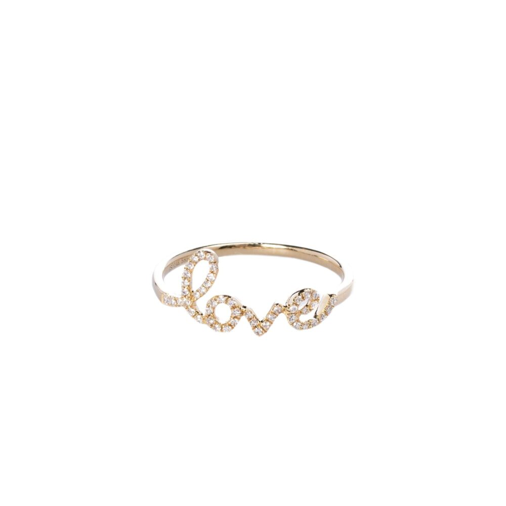 Diamond Love Script Ring