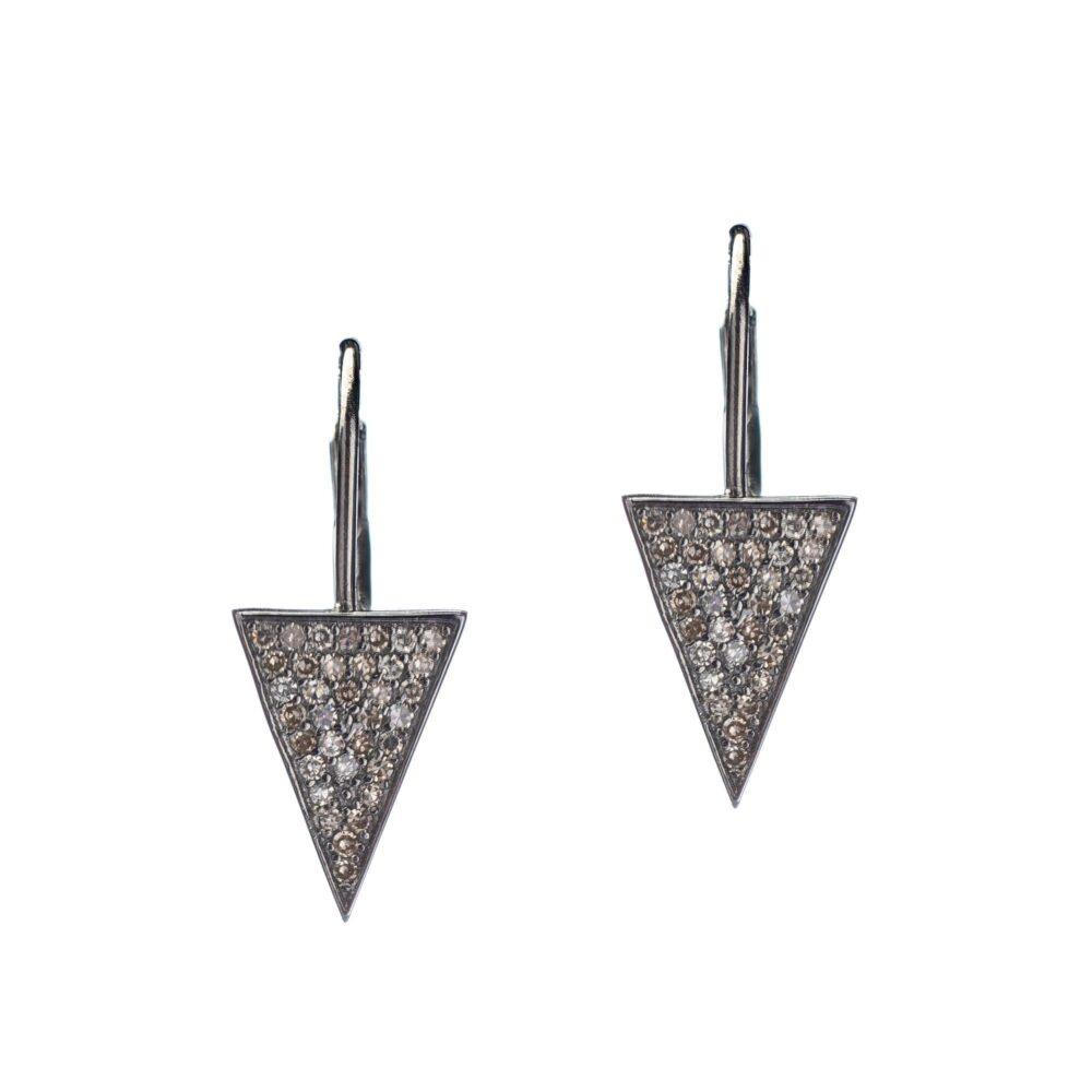 Diamond Triangle Drop Earrings