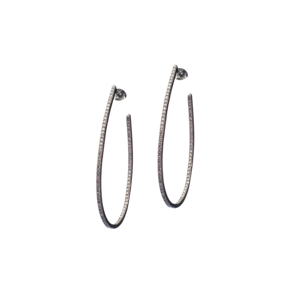 Diamond Oval Hoops