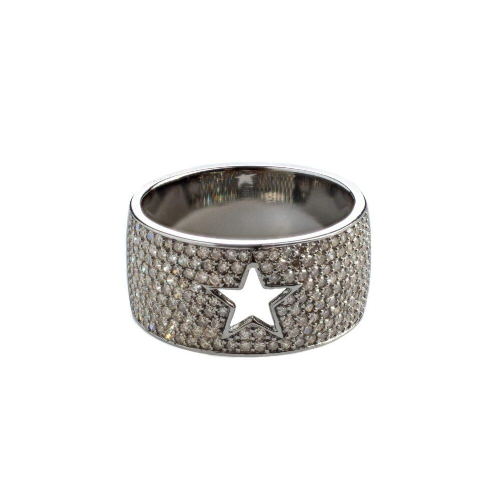 Diamond Cutout Star Band