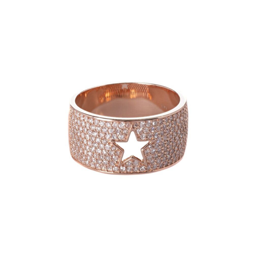 Diamond Cutout Star Band