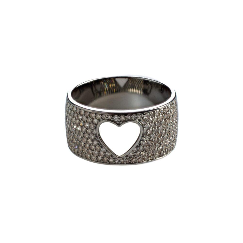 Diamond Cutout Heart Band