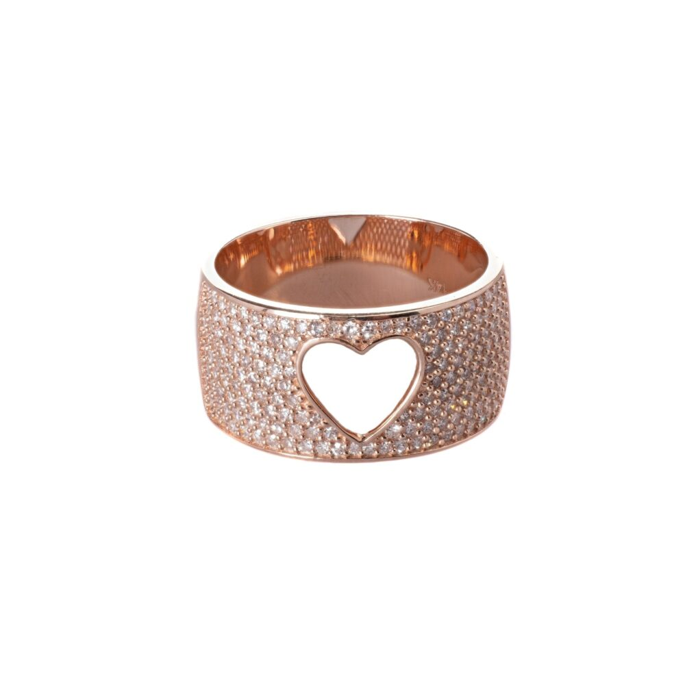 Diamond Cutout Heart Band