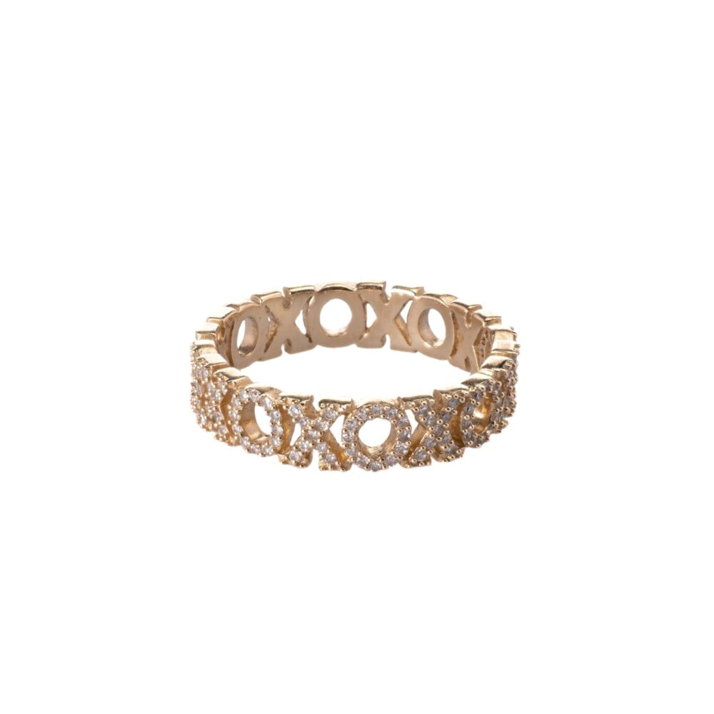 "Diamond ""XOXO"" Stacking Ring"