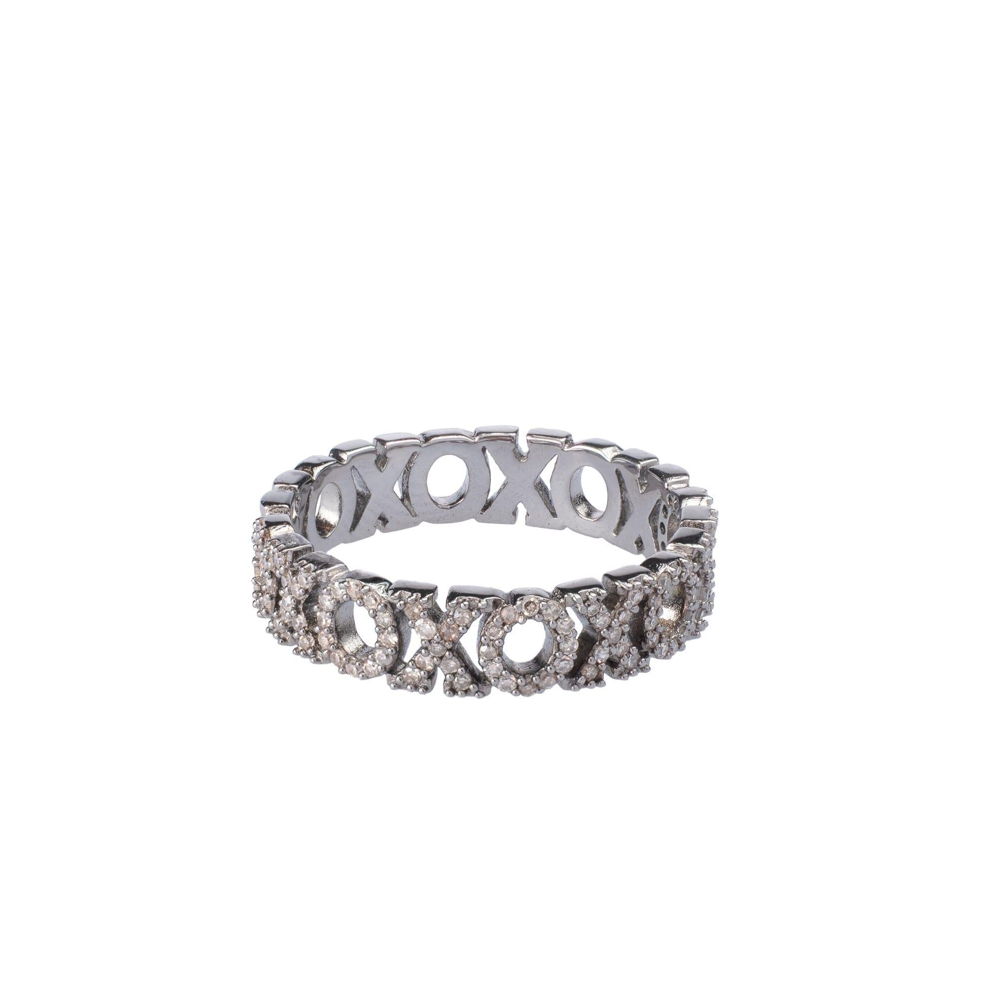 "Diamond ""XOXO"" Stacking Ring"
