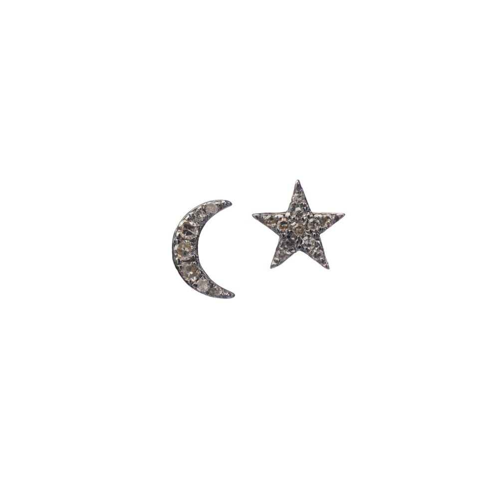 Moon + Star Studs